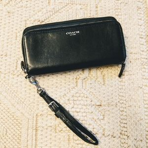 Coach wallet with wristlet.
